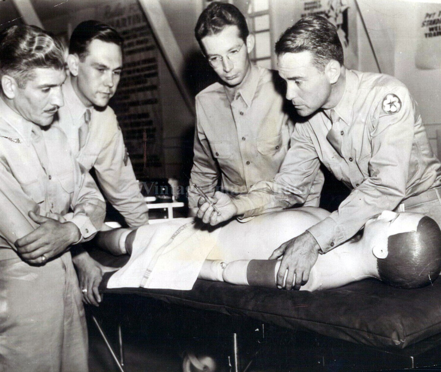 Actor Lew Ayres at Duty Hospital in Abilene in 1941