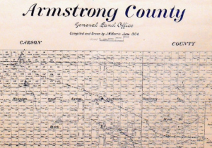 Old Armstrong County Texas Map