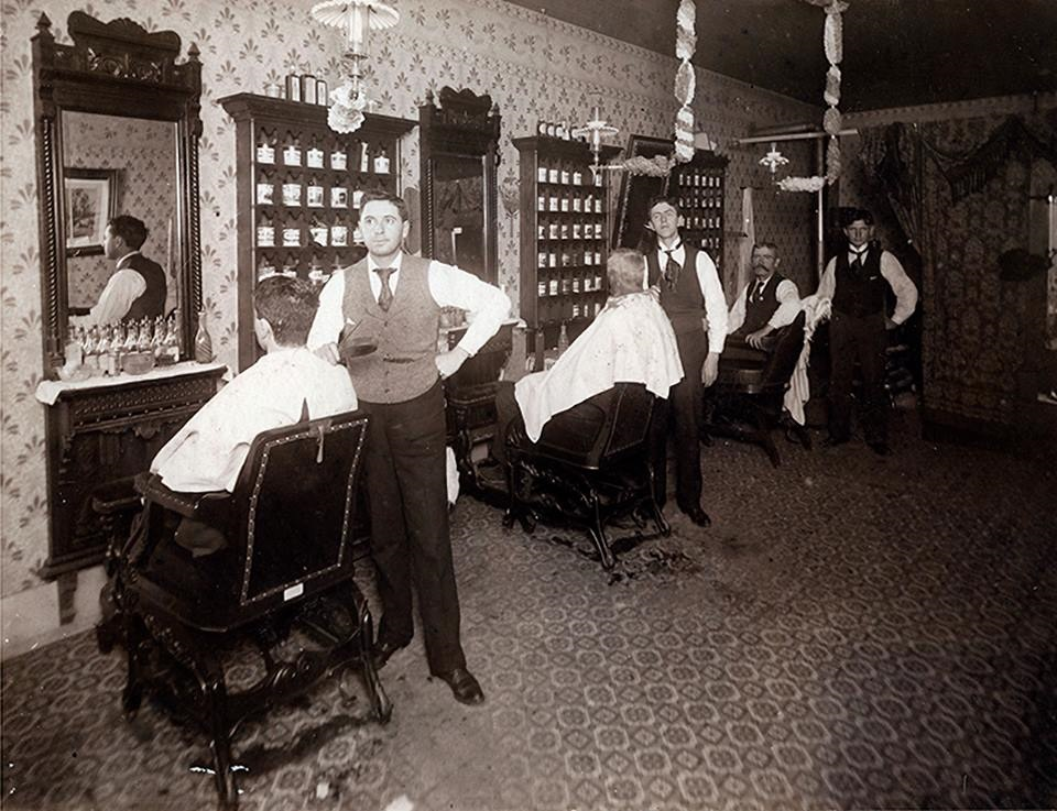Barbershop in San Angelo, 1908
