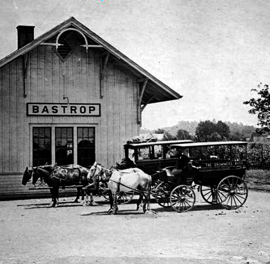 Bastrop Texas Railroad Station in 1900
