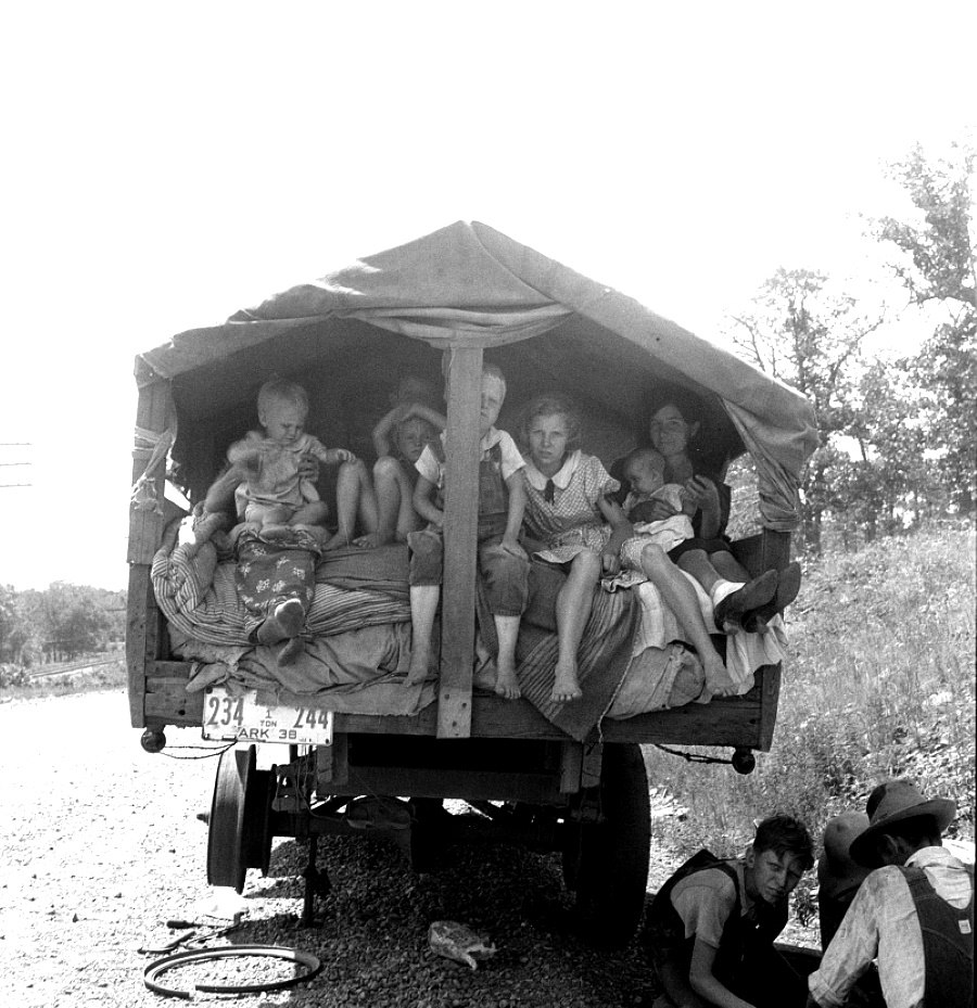 Bound for Lubbock Texas  in 1938