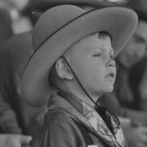 Boy Watches San Angelo Rodeo in 1940
