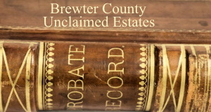 Brewster County Unclaimed Estates