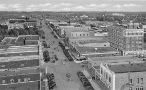 Broadway Looking East Lubbock Tx 1940s