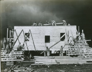 Building Army Barracks 1940 Brownwood