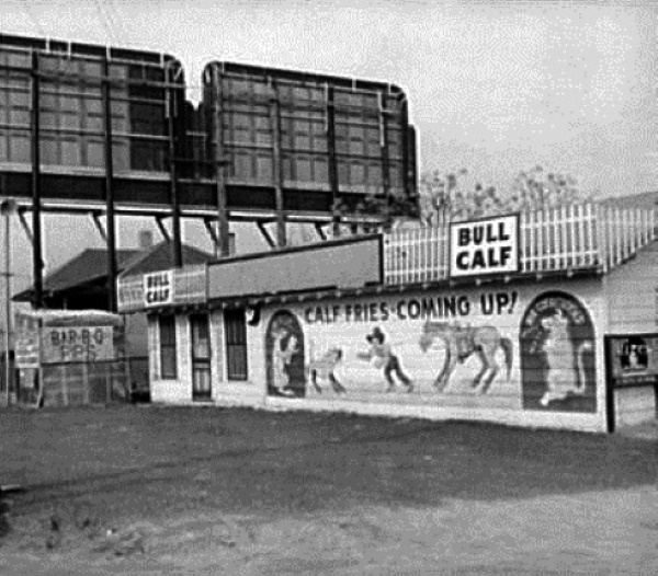 Bull Calf Cafe in Fort Worth in 1942