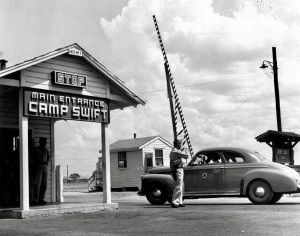 Main Entrance to Camp Swift in  Bastrop County in 1942