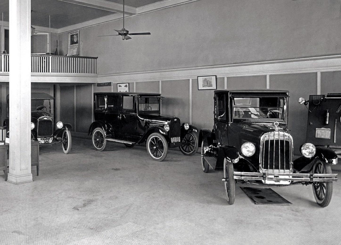 Chevrolet Showroom in Dallas Tx 1920s