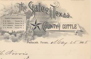 1905 Cottle County Texas