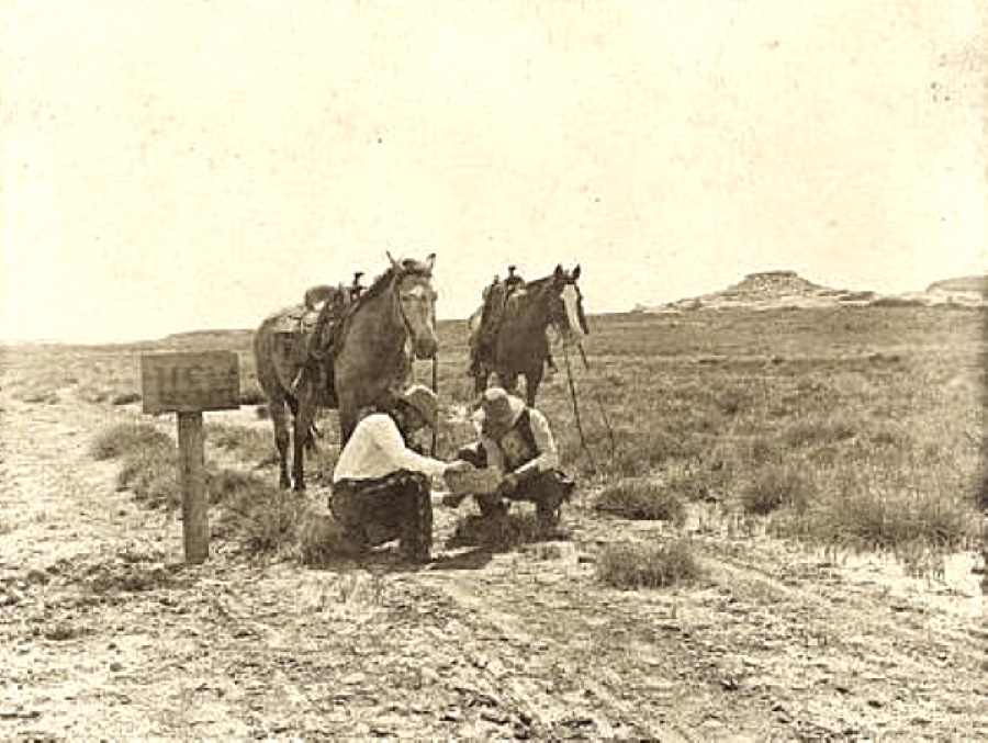 Cowboys Make a Mail Stop in 1907