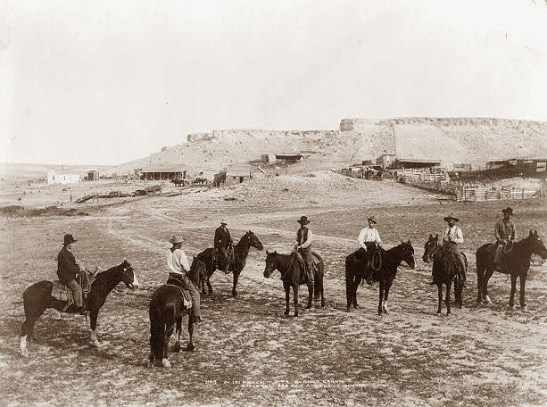 Cowboys in Blanco Canyon, Floyd County Texas in 1904