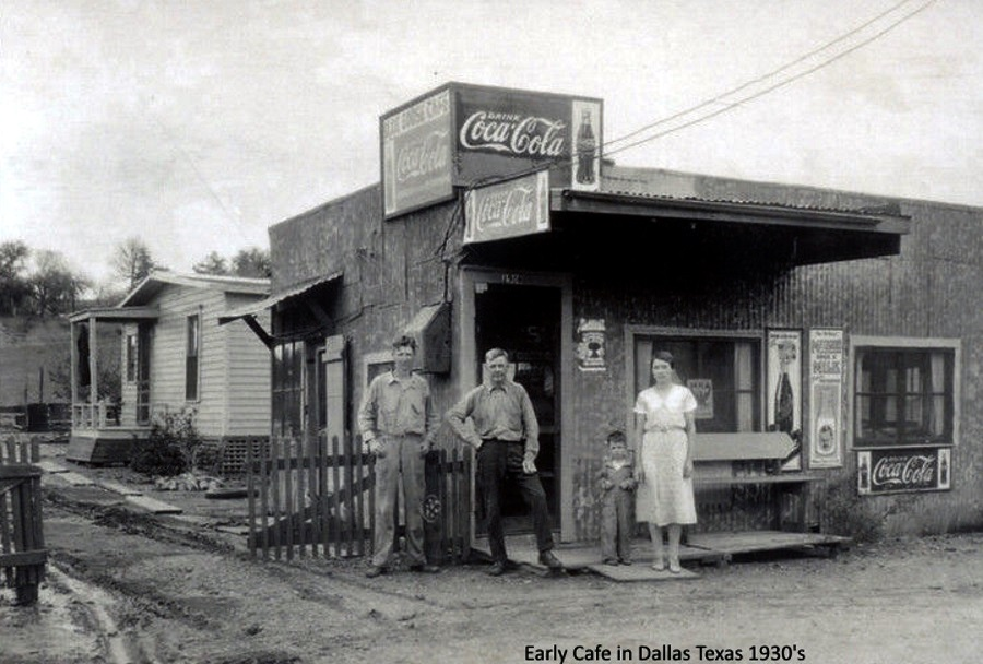 Early Dallas Cafe 1930's