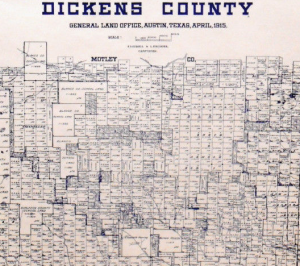 Old Dickens County Texas Map