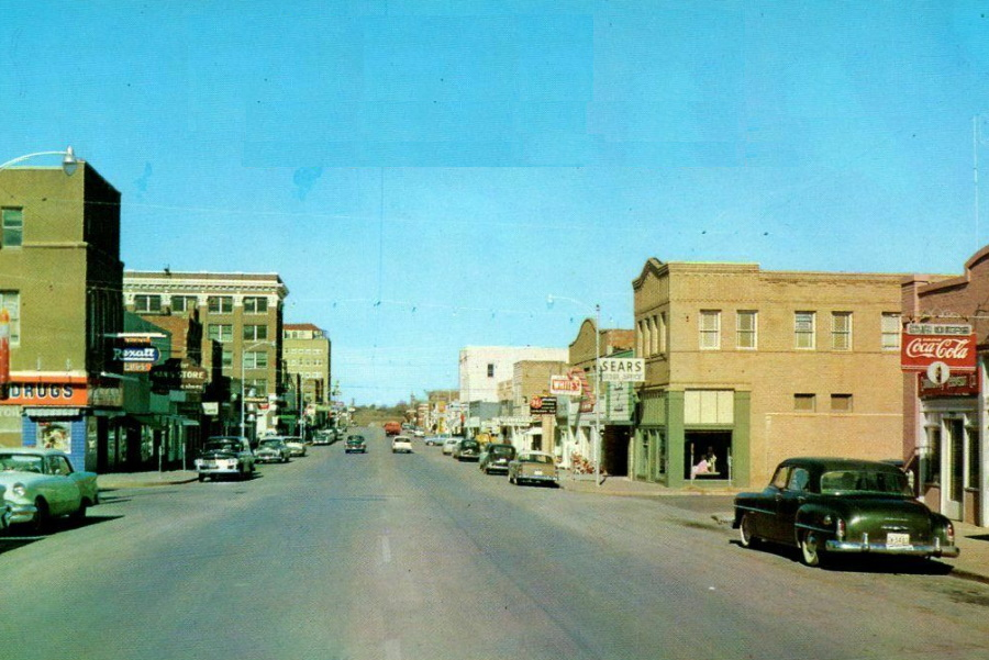 Downtown Cisco Texas 1950s