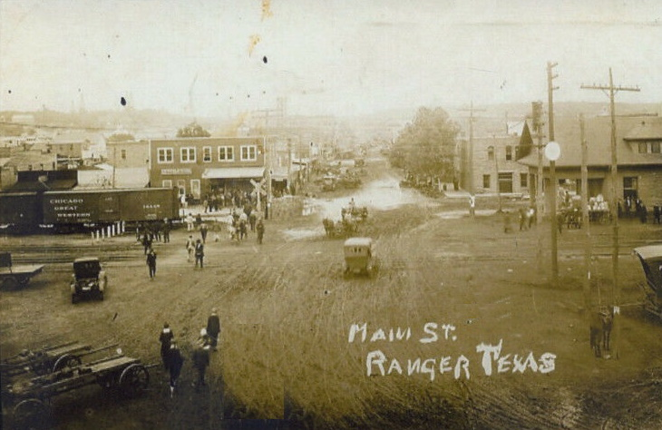 Downtown Ranger Tx Early 1900's
