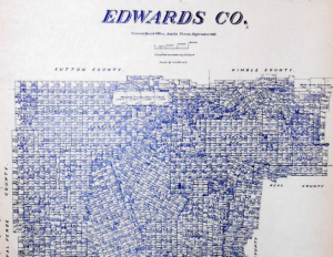 Edwards County Texas Land Office Owner Map
