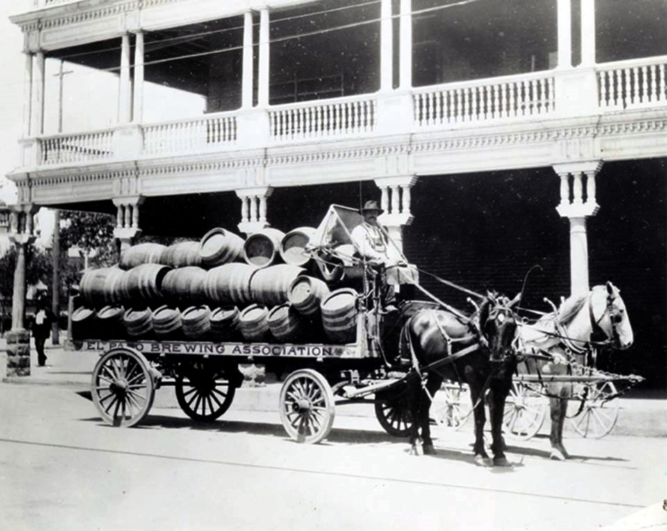 El Paso Brewing Association  Freight Wagon 1910