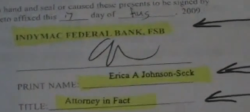Signature of Erica Johnson-Seck Robosigner