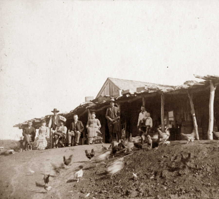 Family with Chickens at Turtle Hole in 1879