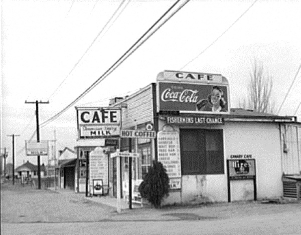Fishermens Last Chance Cafe in 1942