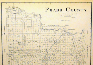 Old Foard County Texas General Land Office Map