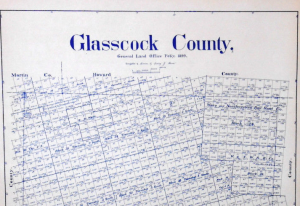 Glasscock County Sterling City Map
