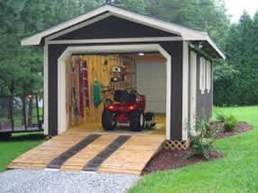 Lawn mower or golf cart garage images frompo for Golf cart garage door