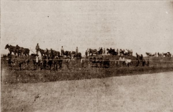 Railroad Grading Team in Floyd and Hale Counties 1909