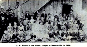 J.W. Hunter's last school, Menardville 1890
