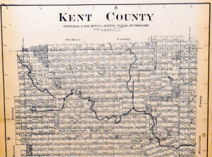 Old Kent County Texas General Land Office Owner Map Jayton Girard Clairemont