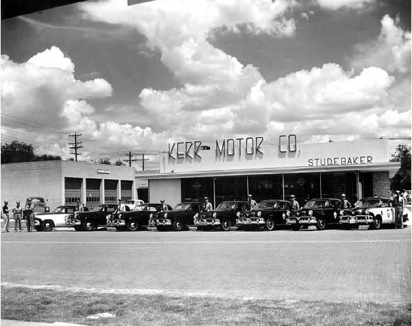 Lubbock Police Buy Studebakers from Kerr Motor Co 1952