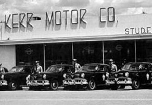 Kerr Motor Studebaker Dealership in Lubbock Texas in 1950