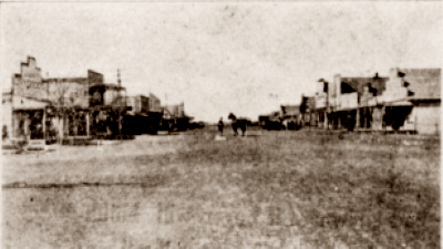Main Street in Lockney Texas in 1909