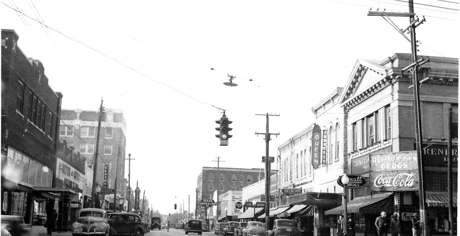 Main Street in Brownwood Texas in 1941