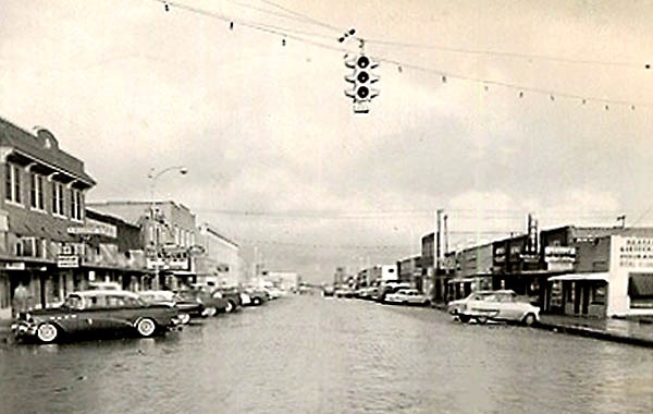 Main Street Floydada Texas in 1950