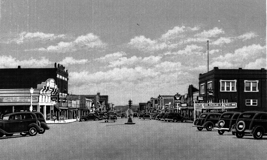 Main Street in Taylor Texas in 1930s