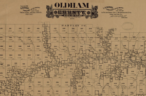 Oldham County Texas Map 1888