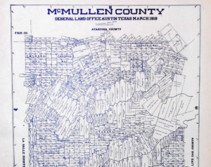 Old McMullen County Texas General Land Office Owner Map Tilden Texas