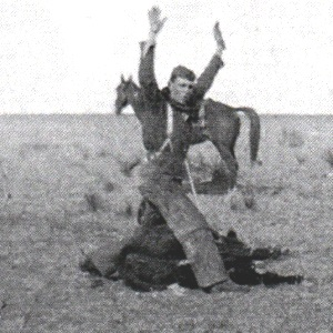 Cowboy at Ranch Rodeo in Midland County Texas  in 1939