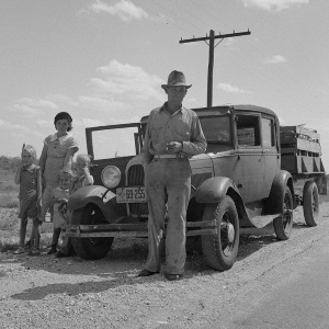 Migrant oil worker and family Ector County TX 1937