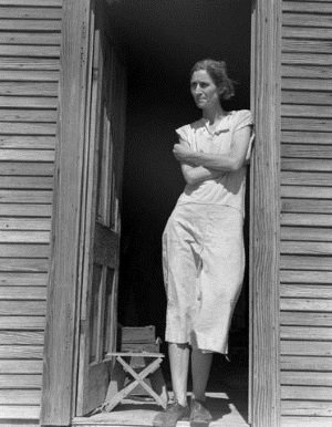 Migrant laborer's wife near Childress Texas 1938