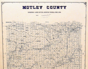Old Motley County Texas General Land Office Owner Map Matador Goodnight Ranch