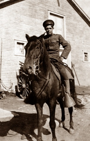 Mounted Soldier Big Spring Texas in 1928