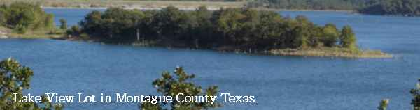 Lake view lot in Montague County Texas offered on ebay