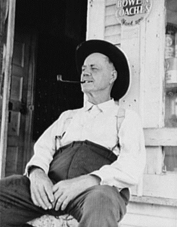 O. O. Mills, Postmaster of Carey Texas in 1938
