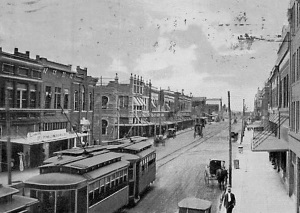 Street Car on Polk Street 1912