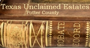Potter County Unclaimed Estates