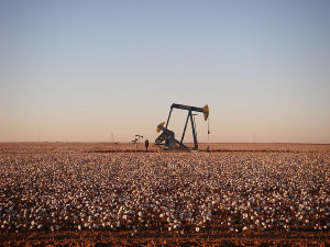 Pumpjack east of Andrews, Texas, northwest of Midland. Photograph by Zorin09