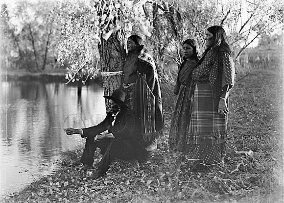 Quanah Parker and his Wives in 1905