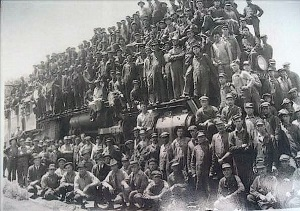 Railroad workers in northern Floyd county 1927